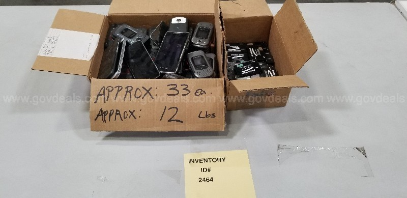Box of Miscellaneous Phones and Box of Miscellaneous Cell Phone Batteries