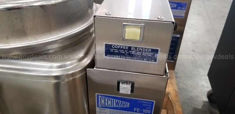 2 Cecilware FE-100 Automatic Coffee Urns