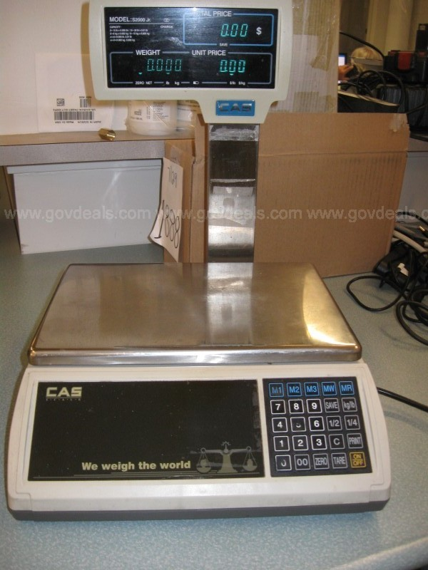 CAS S-2000 Jr Price Computing Scale with LCD Display
