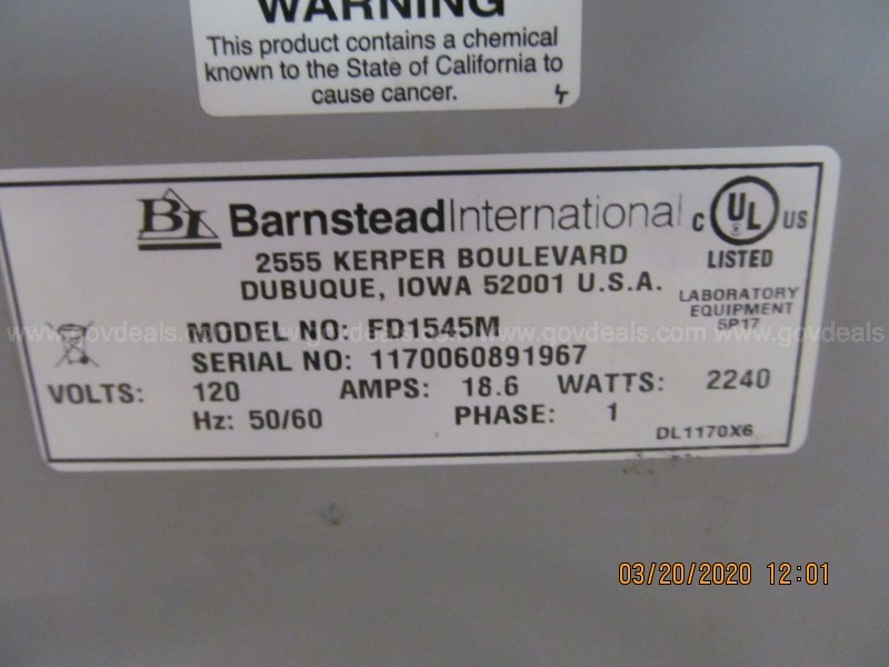 Barnstead / Thermalyne 1500 Furnace