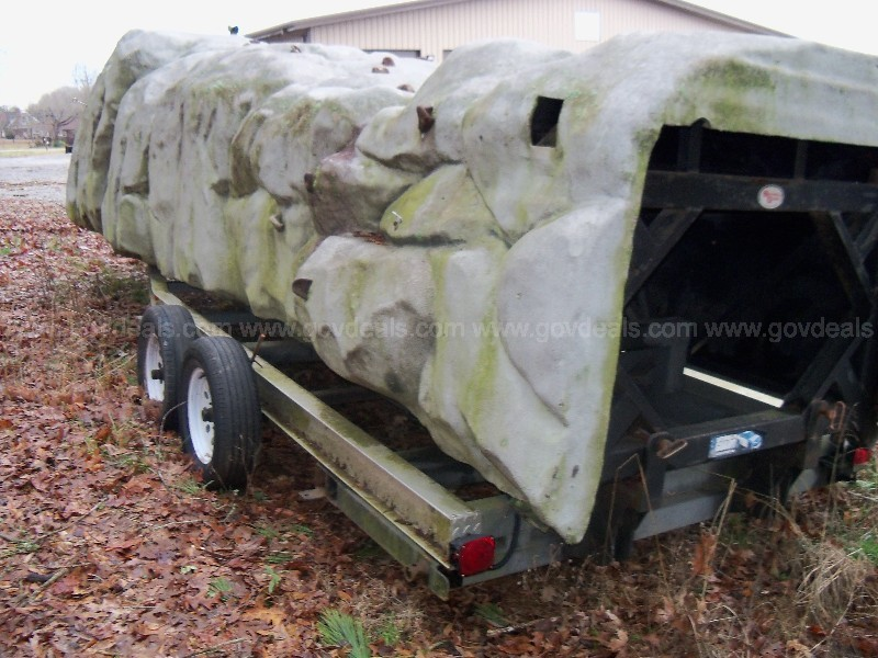 Climbing Wall Hull with aluminum trailer