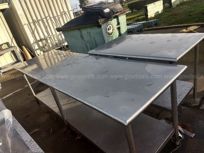 Stainless steel Tables Eight feet and four feet