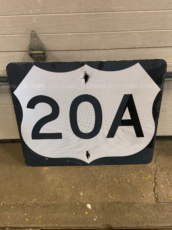 Used Metal Street Sign Route 20A