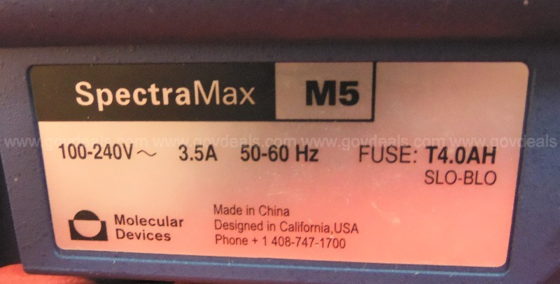 Molecular Devices Spectramax M5 Multi-mode Plate Reader