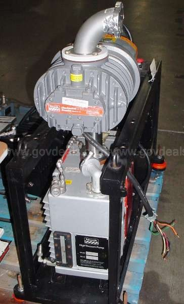 VACUUM PUMP: DIRECT DRIVE 2 STAGE W/ MECHANICAL BOOSTER/ BLOWER