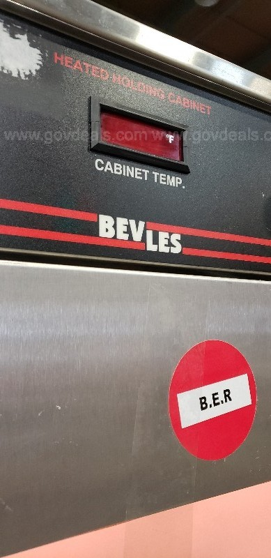 *** COMMERCIAL BEVLES HEATED CABINET-3 DOOR ***