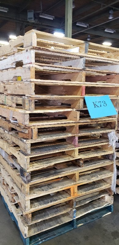 ***1 STACK OF WOOD PALLET ***