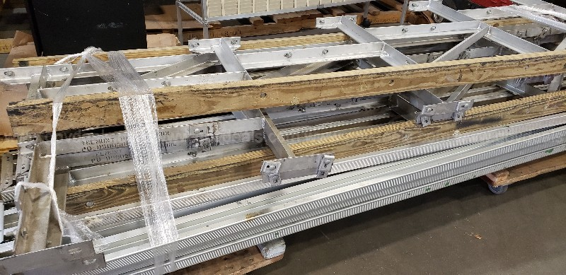 *** OUTDOOR ALUMINUM BENCH ASSEMBLY***