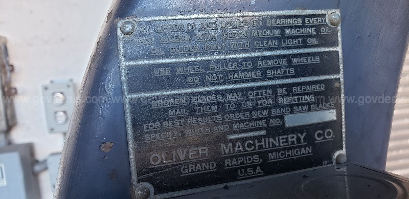 *** OLIVER BAND SAW NO. 217 ***