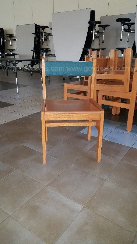 31 qty. Wood Library Chairs