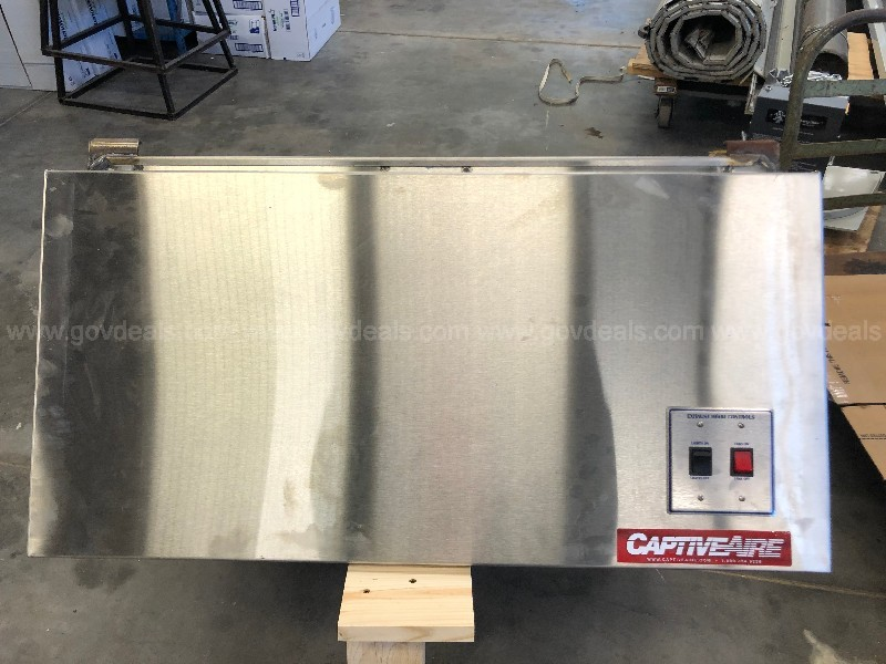 CaptiveAire Exhaust Hood without exhaust damper