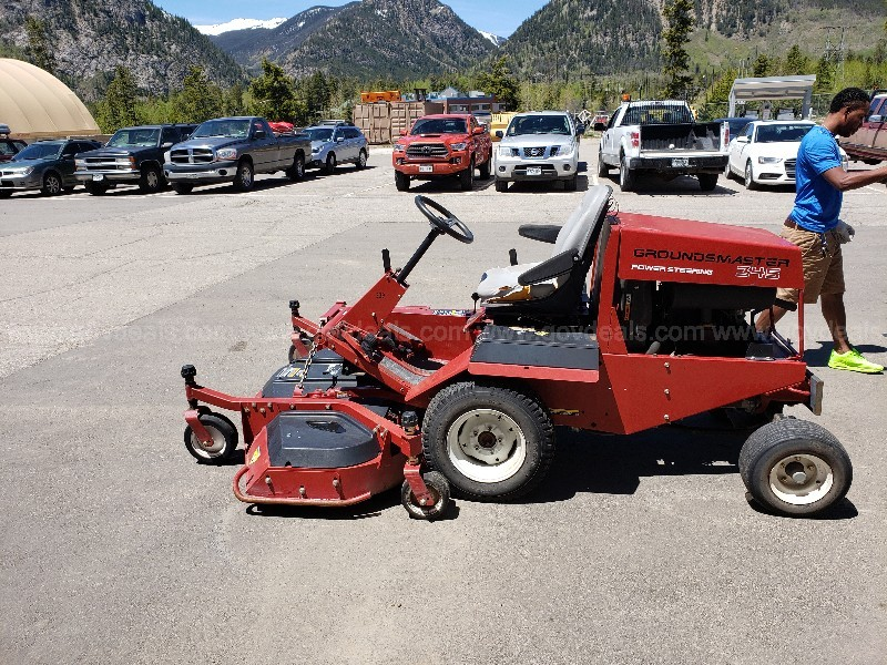 "Toro Groundsmaster 345 Mower 72"" less than 1000 hours"