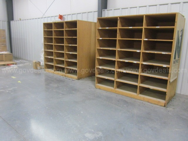 Wooden Storage Shelves