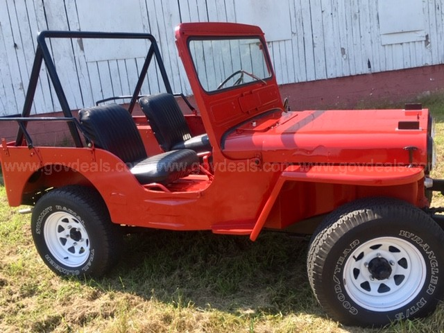 1952 Red Jeep Willy - Korean War/Museum GREAT Condition - Ready to Go!