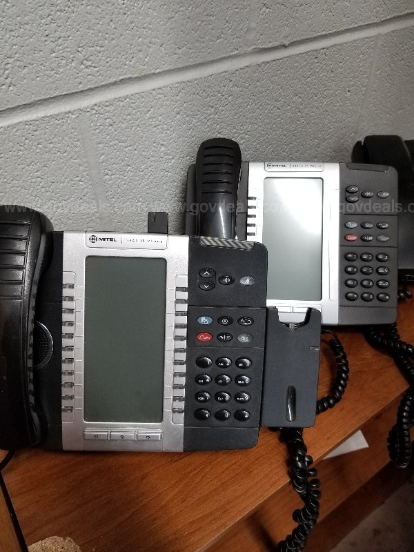 Lot of Approximately 35 Mitel Phones