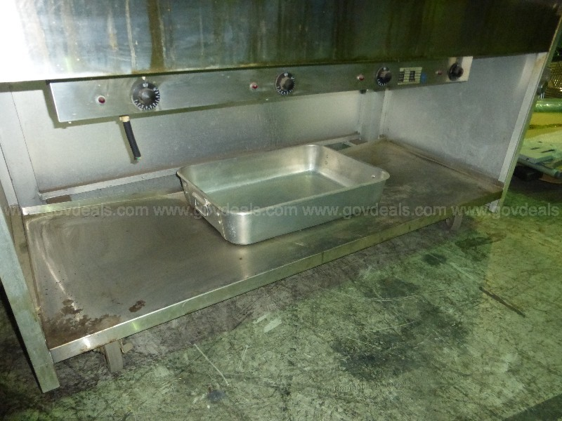 Stainless Steel Buffet Server Table
