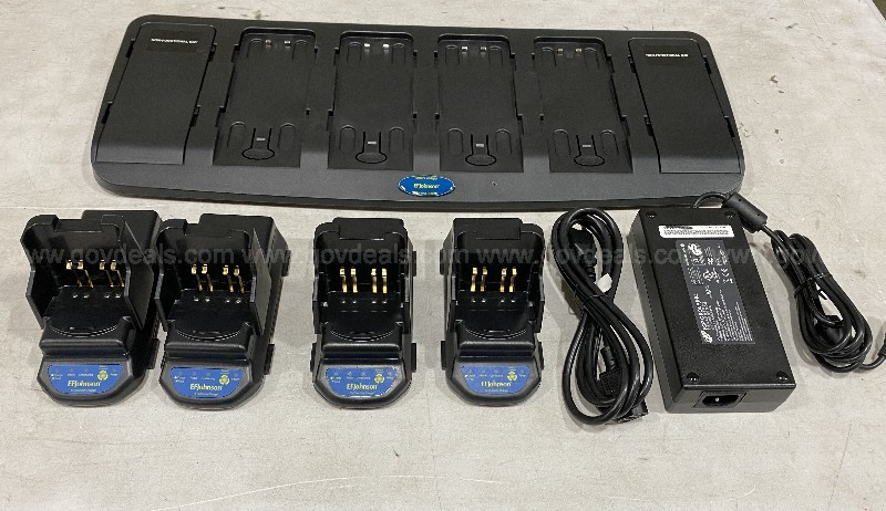 1 Pallet of 25 EF Johnson charger kits: bases, 100 pockets, power supplies