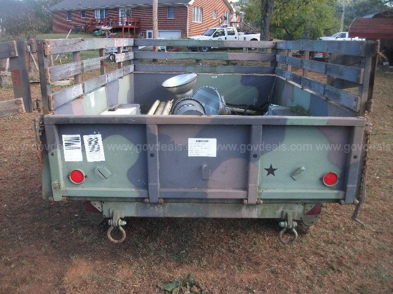 3/4 ton military trailer   no title just bill of sale