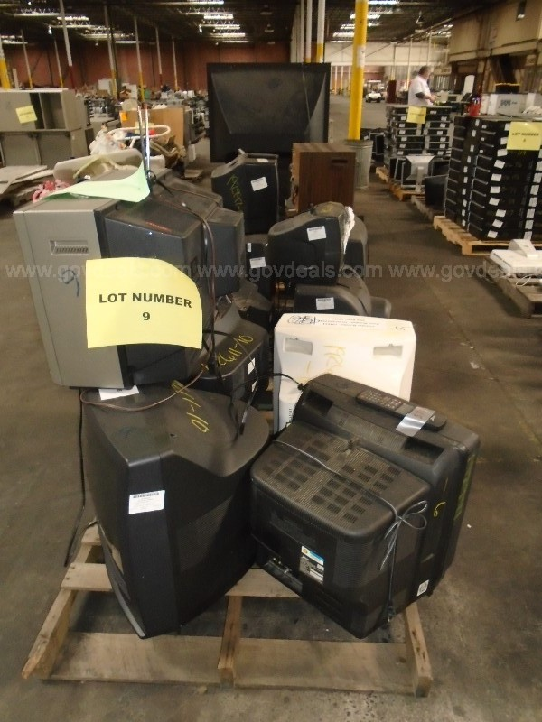 Lot of Assorted Televisions