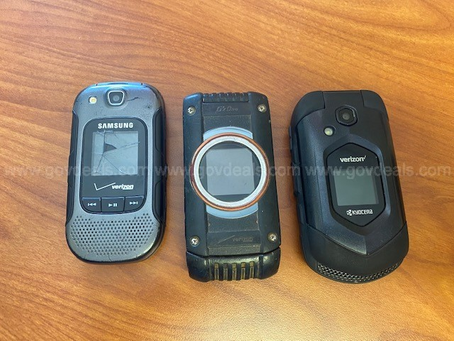 Samsung and Casio Flip Phones