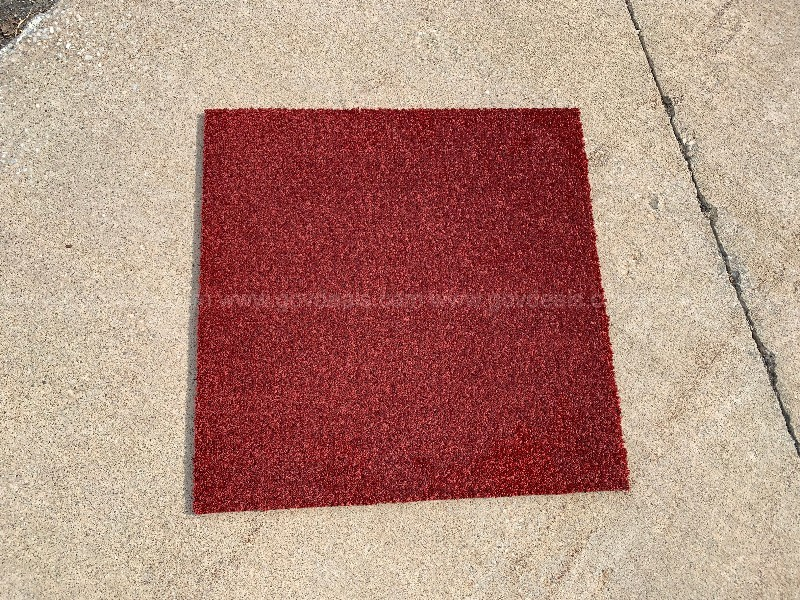 Milliken, Cranberry carpet squares, 344 pieces