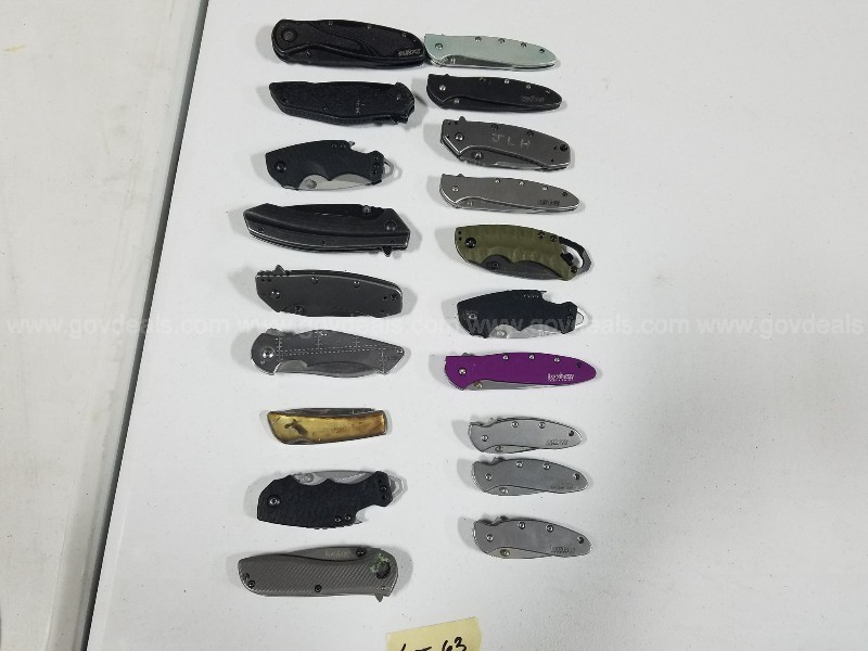 19-each KERSHAW knives. Misc.styles/sizes