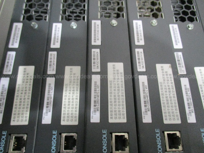 A Lot of (10ct.) Assorted Cisco Catalyst Switches