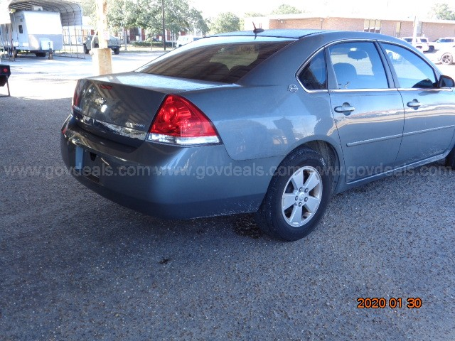 2008 GRAY CHEVROLET IMPALA 4-DOOR SEDAN