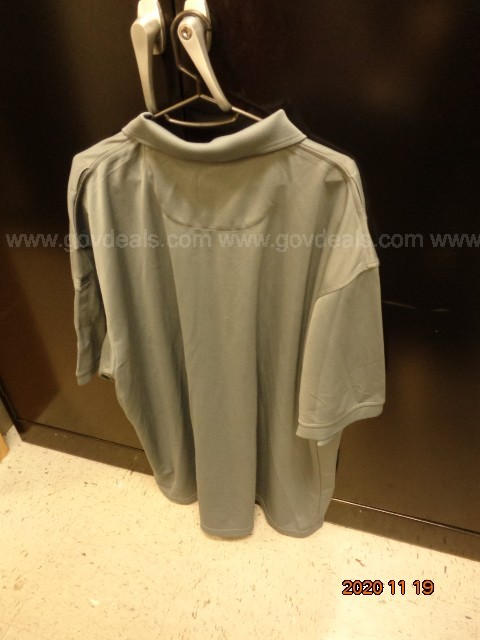 ONE (1) FEMALE 3XL GRAY 100% POLYESTER ELBECO SHIRT