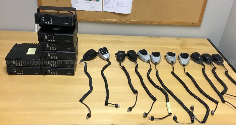 Motorola GM300 radios and microphones