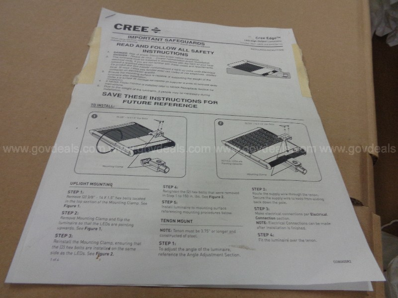 Lot of (10) Cree Edge LED Lights