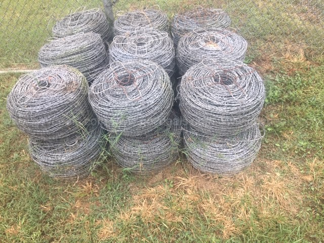 18 SPOOLS OF BARB WIRE