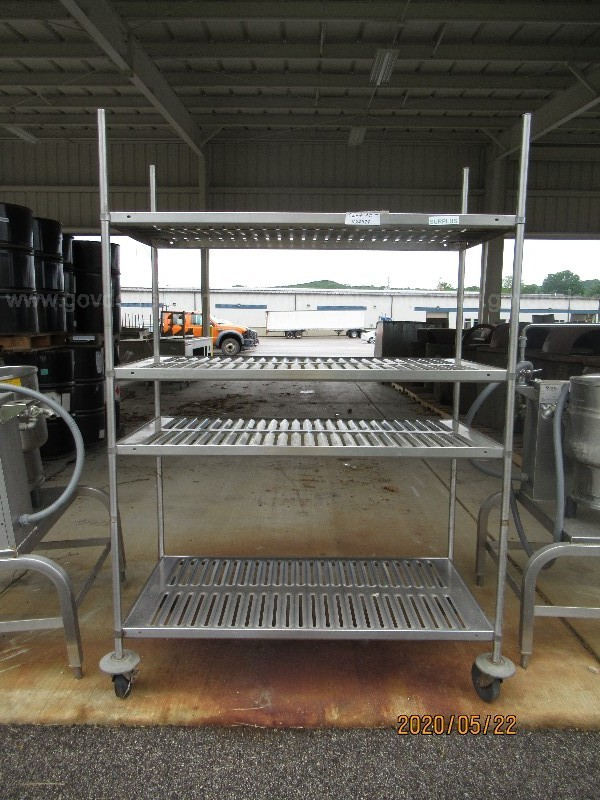 1 lot of Steam Kettles and Chiller Cart