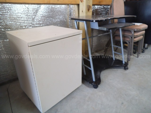 Computer Table, Cabinet, Chairs