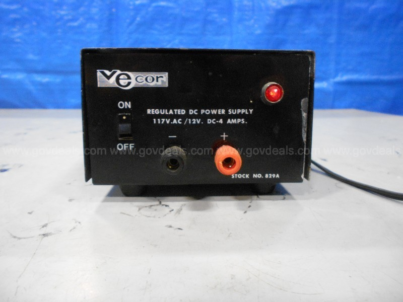 One (1) Vecor Regulated DC Power Supply Stock NO. 829A