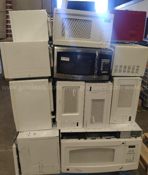 Twenty Four (24) Assorted Microwaves (Not Tested)