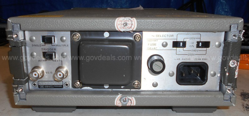 One (1) HP 3312A Function Generator