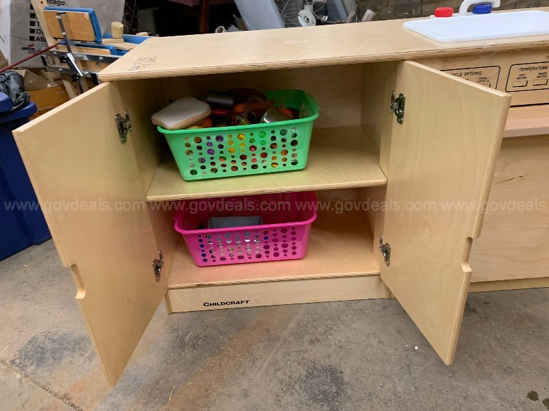 Children's Wooden Kitchen Playset