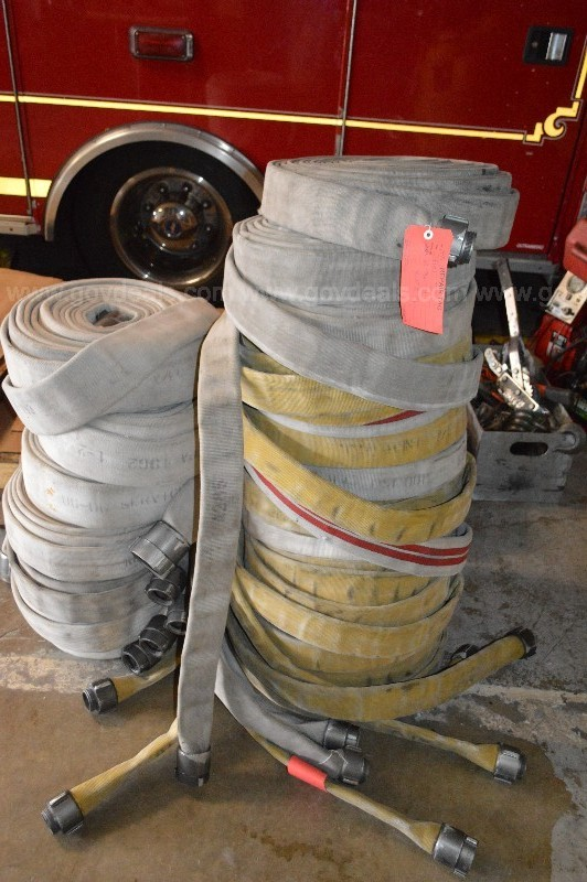 Group of Fire Hose - 18 Sections