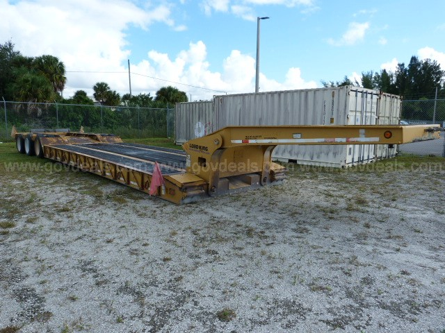 Load King 553-SS Hydraulic Detachable Gooseneck Trailer, 55 Ton