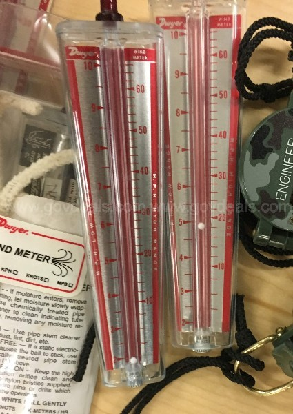 Odd Lot – Speakers, Compasses, Wind Speed Gauges, Hand Level