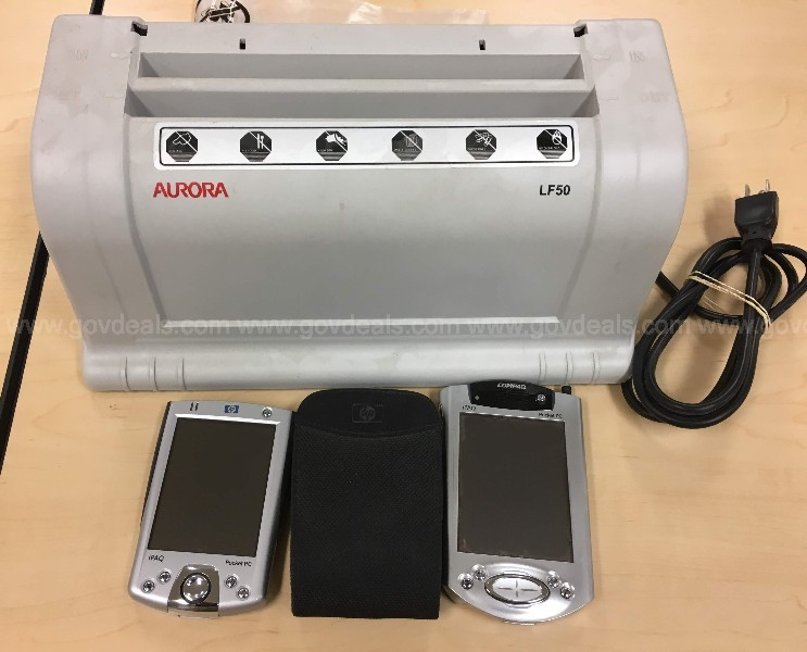 Lot of Two PDAs and Automatic Letter Folder