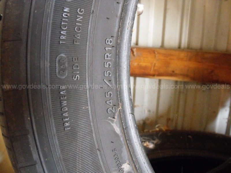 Vehicle Tires 245/55/R18 police car tires Used