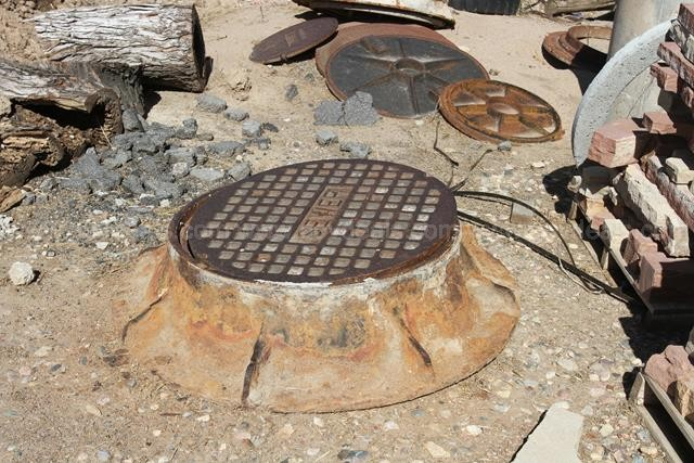 Lot of Steel Manhole Rings and Covers