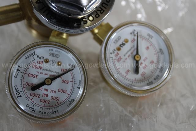 Lot of 2 FisherBrand Gas Regulators #1