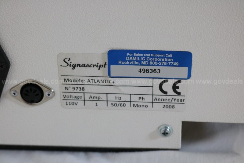 Signascript Atlantic Signature Reproducer