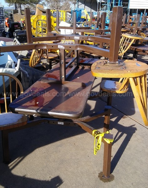 *** Lunch Room TABLES - One Lot of 32 Tables and Seats.***