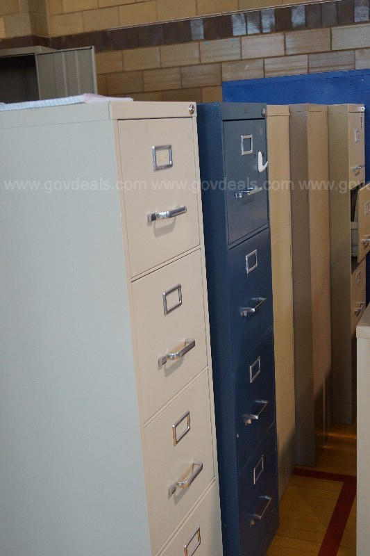 (19) tall metal file cabinets