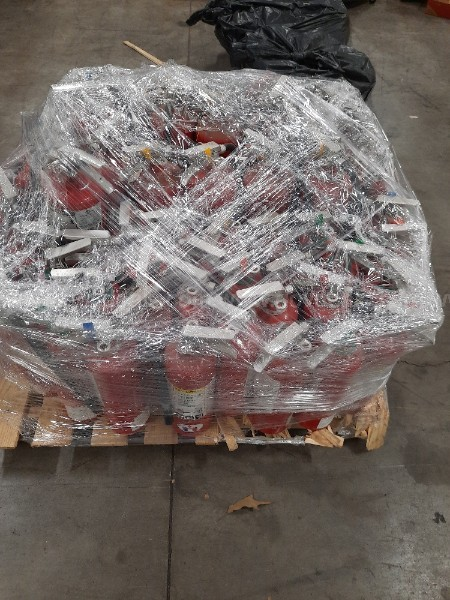 ONE PALLET OF FIRE EXTINGUISHERS