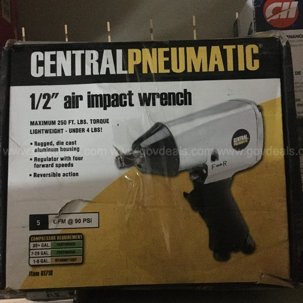 CENTRAL PNEUMATIC 1/2 INCH IMPACT WRENCH